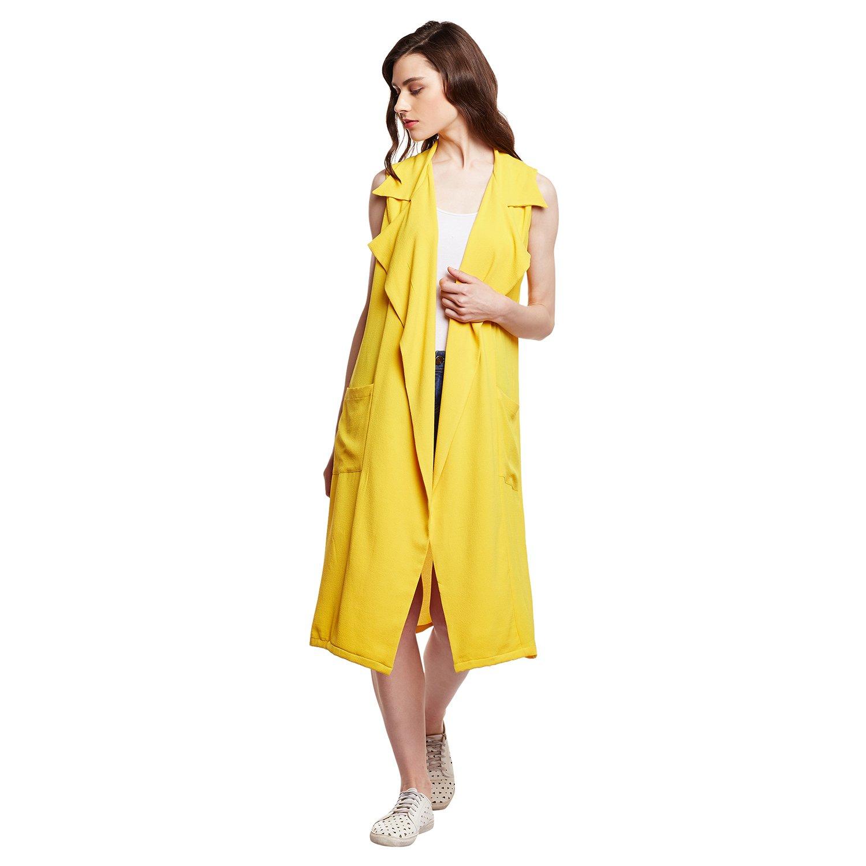 405aba6c0c8e5 The Silhouette Store Sunshine Yellow Trench Dress Style Shrug