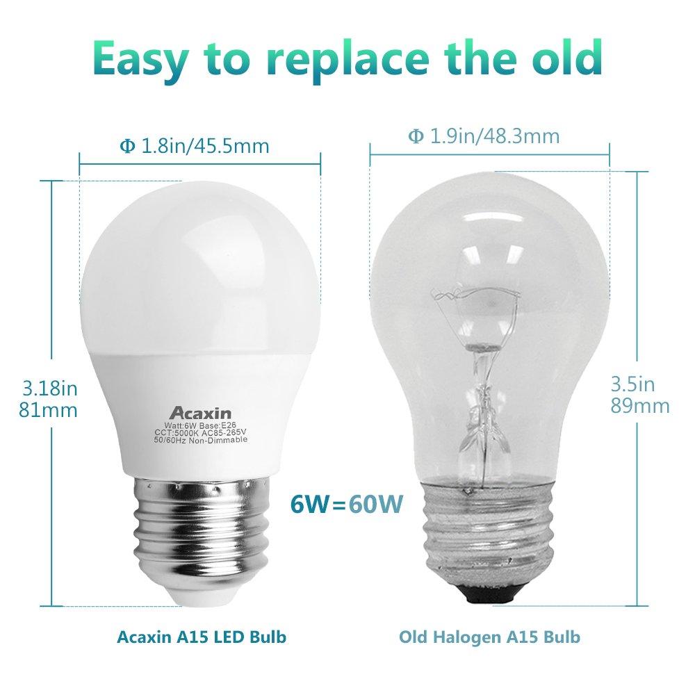A15 Led Light Bulb 6w 60 Watt Equivalent Acaxin A15 Led Lights Non