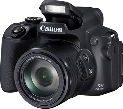 Canon PowerShot SX70 HS - Cámara Bridge de 20.3 MP (Zoom óptico de 65x, DIGIC 8, 10 fps, Vídeo 4K, LCD, ángulo Variable) Negro