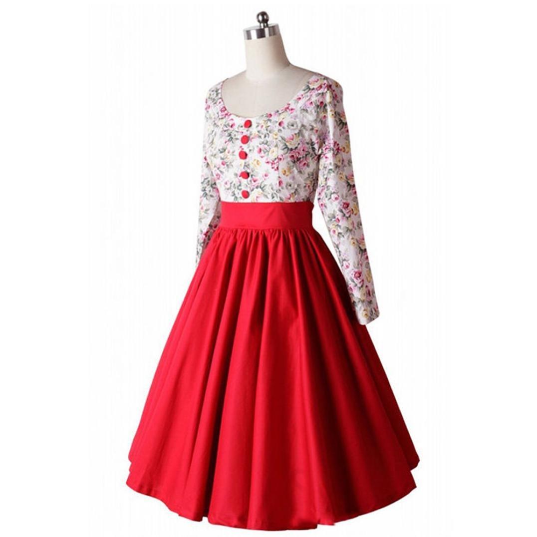 Kleider ,Frashing 1950er Retro Vintage Geblümten Patterned ...