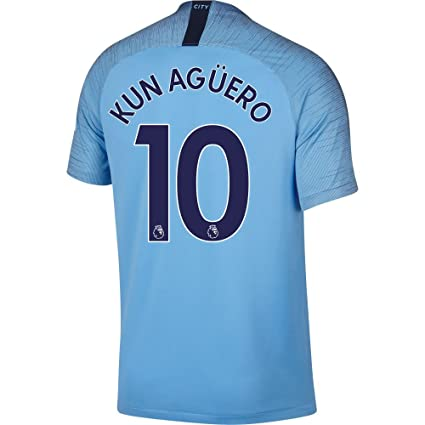 Nike Manchester City Home Kun Agüero Jersey 2018 2019 (Authentic EPL  Printing) - 3ce0539bb12