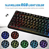 VicTsing RGB Backlit Wired Gaming Keyboard, Mechanical Feeling Gaming Keyboard with Anti-ghosting,12 Multimedia Keys, Spill-resistant Design for PC/Laptop/Desktop, Black