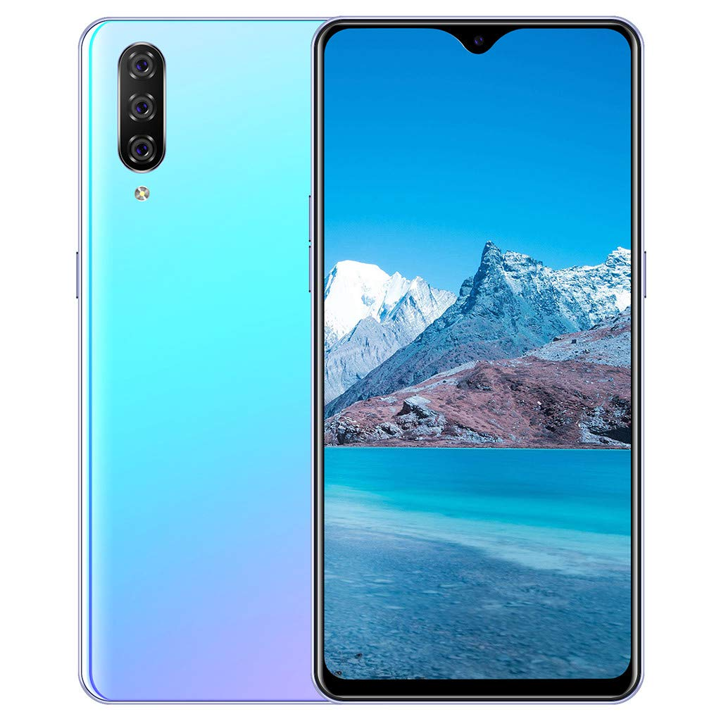 Fullwei Eight Core 6.3 inch Water Screen HD Camera Smartphone Android 9.1 1+16GB Drop Touch Screen WiFi Blueteeth GPS 3G Call Mobile Phone (Blue)