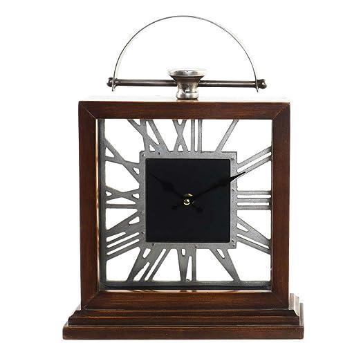 Reloj Sobremesa Vintage de Madera y Metal, Relojes Analógicos para ...