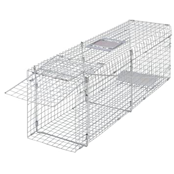 vidaXL Trampa galvanizada para capturar Animales Vivos 100 cm ratonera Jaula jardín: Amazon.es: Deportes y aire libre