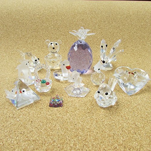 12 pc Crystal CLOSEOUT Collectible Figurine Statue FREE CASTLE BRAND NEW in Boxes