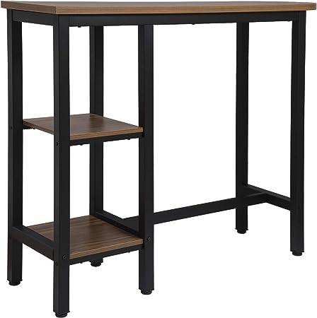 Woltu 1 X Table De Bar Table De Bistrot Table Haute Structure En