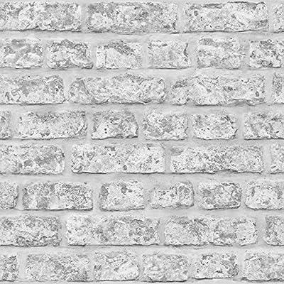 Arthouse, Realistic Brick Wallpaper, Rustic Grey