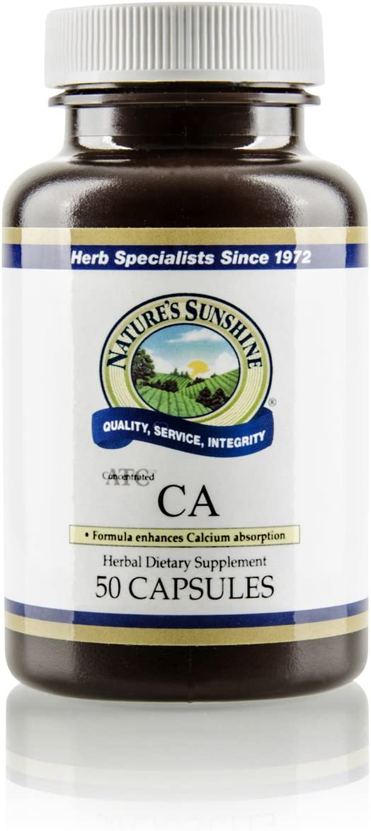Nature's Sunshine CA, ATC Concentrated, 50 Capsules | Help Maintains The Nervous and Structural Systems