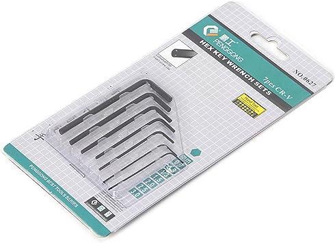 New 7Pcs 0.7mm-3mm Mini Hexagon Hex Allen Key Set Wrench Screwdriver Tool Kit