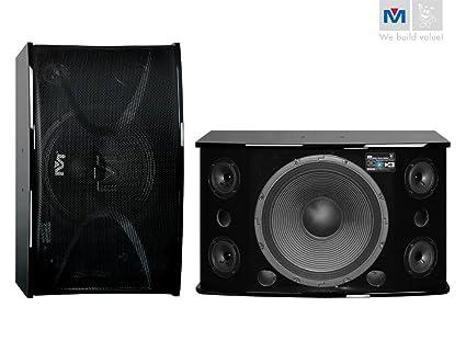 Better Music Builder CS-812 G3 Pro Karaoke Speakers, Piano Wood (Pair)