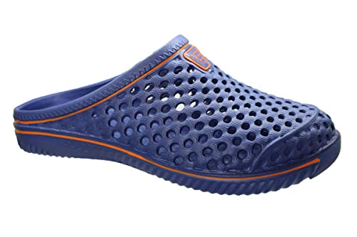 buyAzzo Herren Slobby Clogs | Hausschuhe Freizeitclogs | Praxis Schlappen | Bade Schuhe Gartenschuhe | Gäste Slipper Pantoletten | Komfort Schlupf