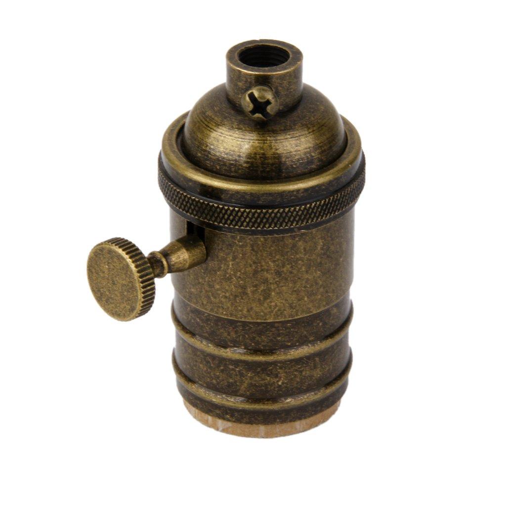 Bronze antique Sharplace Interrupteur de E27 Douille Ampoule R/étro en Cuivre D/écoration Maison