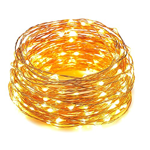 Wedding supplies amazon hahome waterproof led string lights33ft 100 leds indoor and outdoor starry lights with power supply for christmas wedding and party decorationwarm white junglespirit Images