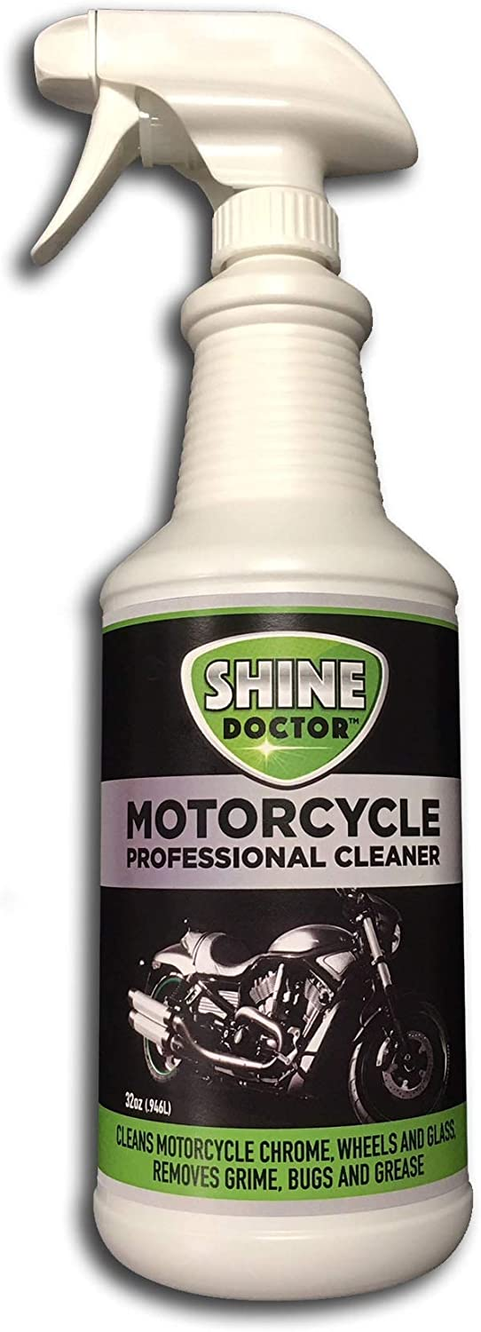 Shine Doctor Motorcycle Cleaner 32 oz. with UV Protection! Cleans Chrome, Wheels and Glass and Removes Grime, Bugs and Grease.: Health & Personal Care