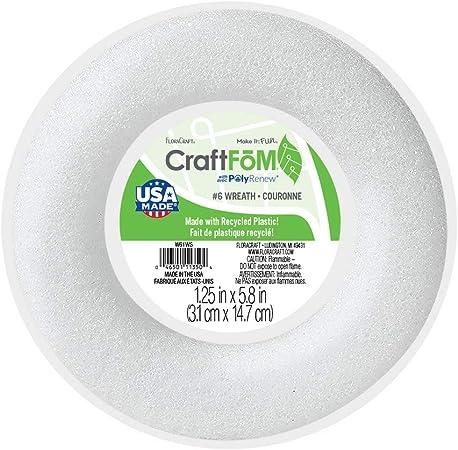Floracraft Foam Wreath 1 1 Inch X 5 8 Inch White Amazon Ca Home Kitchen