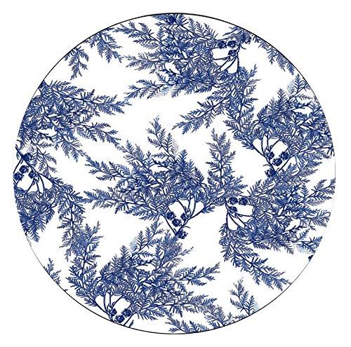 Boston International Caskata Studio 4 Count Melamine Tidbit Topper Boxed Plate Set, Cedar Blue