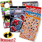 Disney Incredibles 2 Stickers Bundled with Specialty Door Hanger (The Incredibles 2)