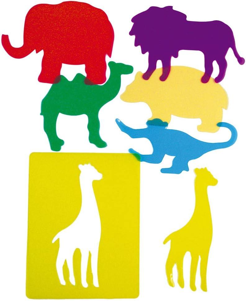 Henbea - Plantillas Animales de Zoo traslúcidas (913)