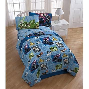 star wars bedroom set. Star Wars Bedding Set 5pc Comforter and Sheets Full Bed Amazon com