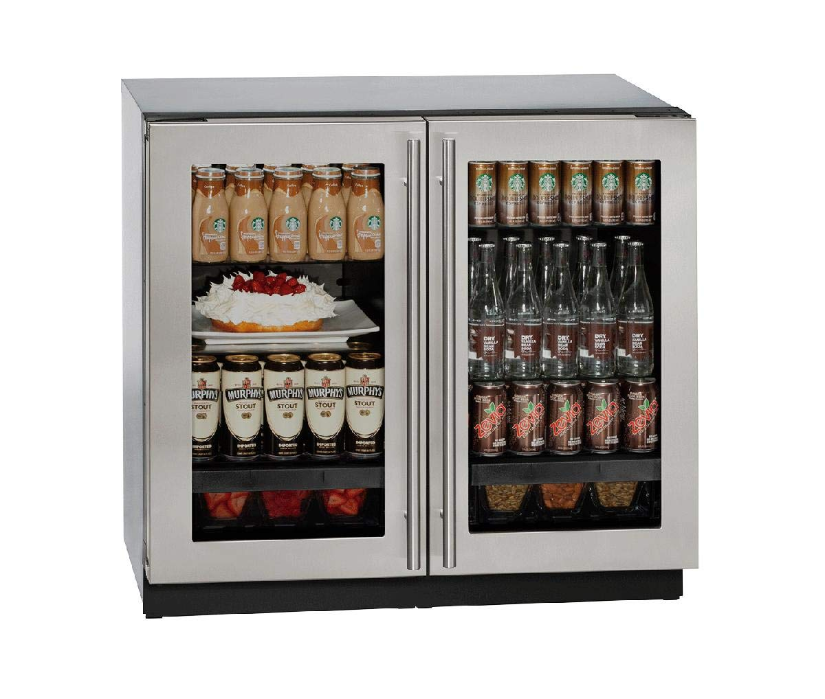 U-Line U3036RRGLS00B Modular 3000 Series 36 Inch Built In Compact Refrigerator with 6.9 cu. ft. Capacity, in Stainless Steel