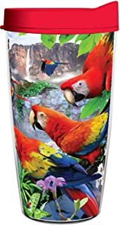 product image for Smile Drinkware USA-FLIGHT OF THE MACAW 16oz Tritan Insulated Tumbler With Lid and Straw