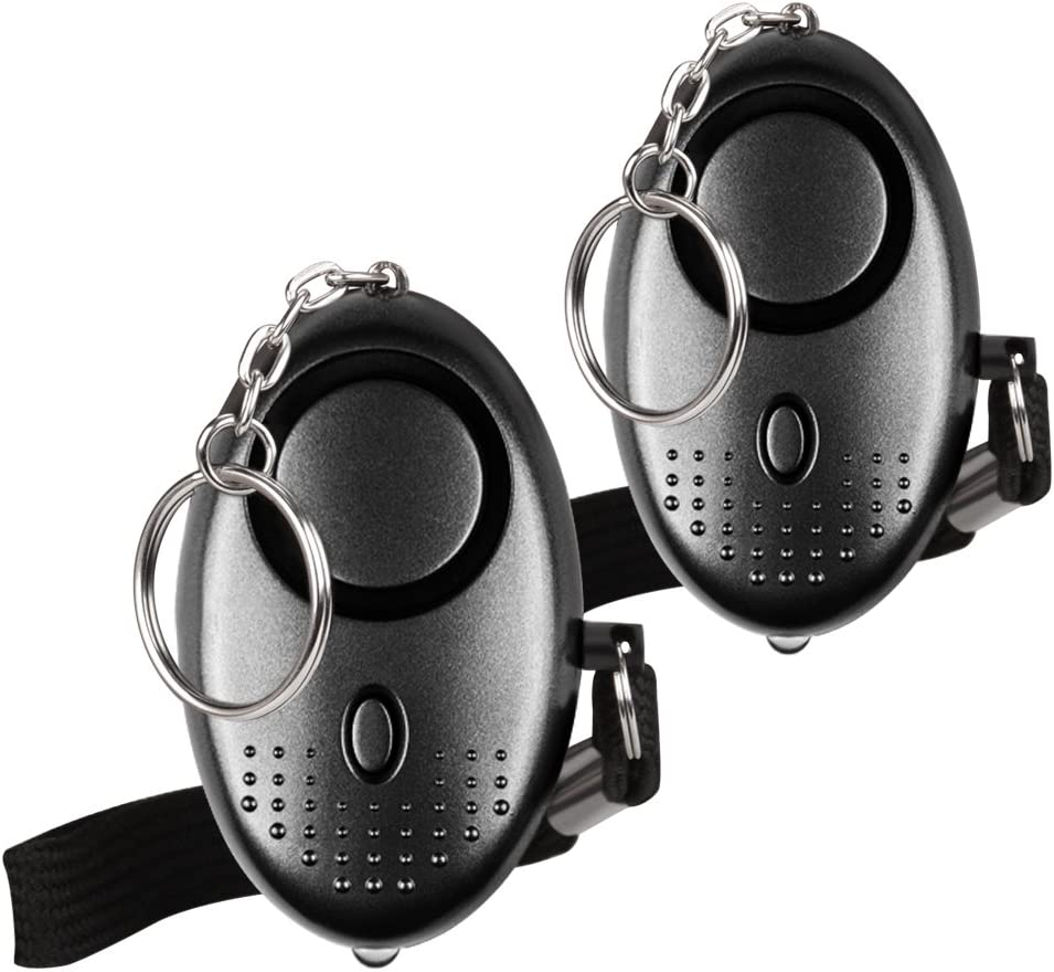 防犯ブザー 防犯アラーム Qosea 130dB爆音 LEDライト付き 小学生/女性/お年寄り 大音量アラーム 痴漢撃退 誘拐防止 ピンを抜くだけ 2個セット 卵型