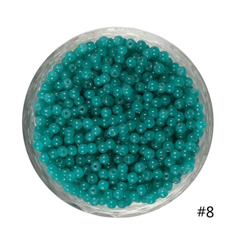 coohole 100個4 mm DIY LotsチャームガラスラウンドシードビーズジュエリーMakingクラフト B076J83NKD H H