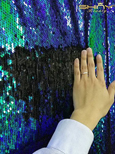 3-feet-1-yard-mermaid-flip-up-sequin-shiny-iridescent-greyblue-on-one-side-with-iridescent-greyblue-