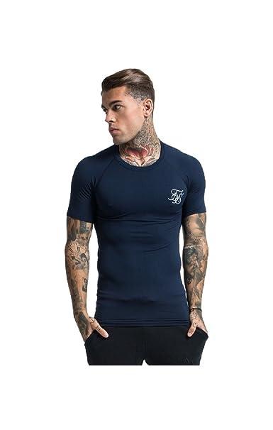 sensación cómoda Zapatillas 2018 llegando SikSilk - Camiseta - para hombre azul azul marino L: Amazon ...