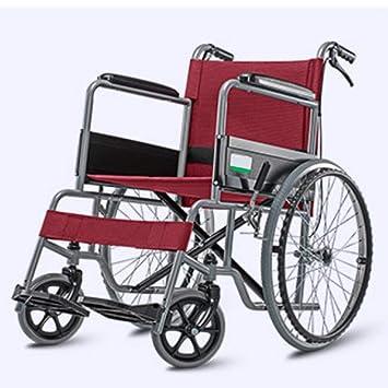 Amazon.com: Silla de ruedas plegable, ligera, para ...