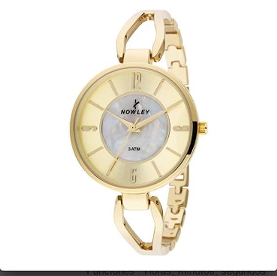 Reloj Nowley Chic Mujer en Acero IP Dorado 8-5549-0-0: Amazon.es: Relojes