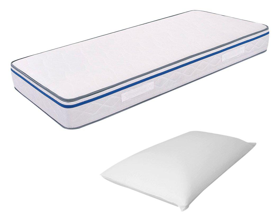 Miasuite Materasso Easy Singolo Memory Foam 90X200 Alto 22 cm Ortopedico + Cuscino Memory Foam Alto 13 cm Anticervicale Prezzi offerte