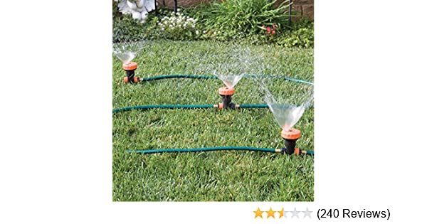 Amazon.com : 3 In 1 Portable Sprinkler System With 5 Spray Settings : Lawn  And Garden Sprinklers : Garden U0026 Outdoor