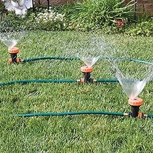 Amazon Com 3 In 1 Portable Sprinkler System With 5 Spray