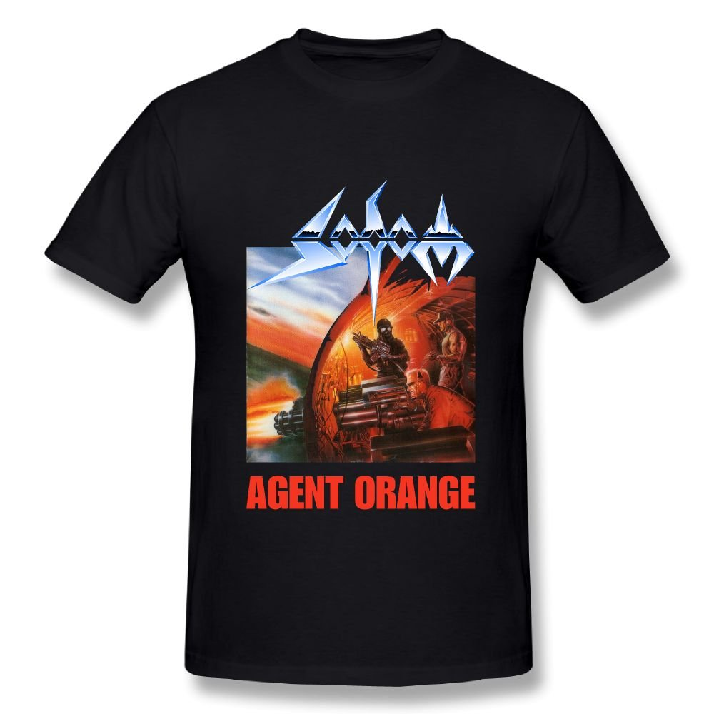 Danielle Mens Sodom Agent Orange T Shirts Black