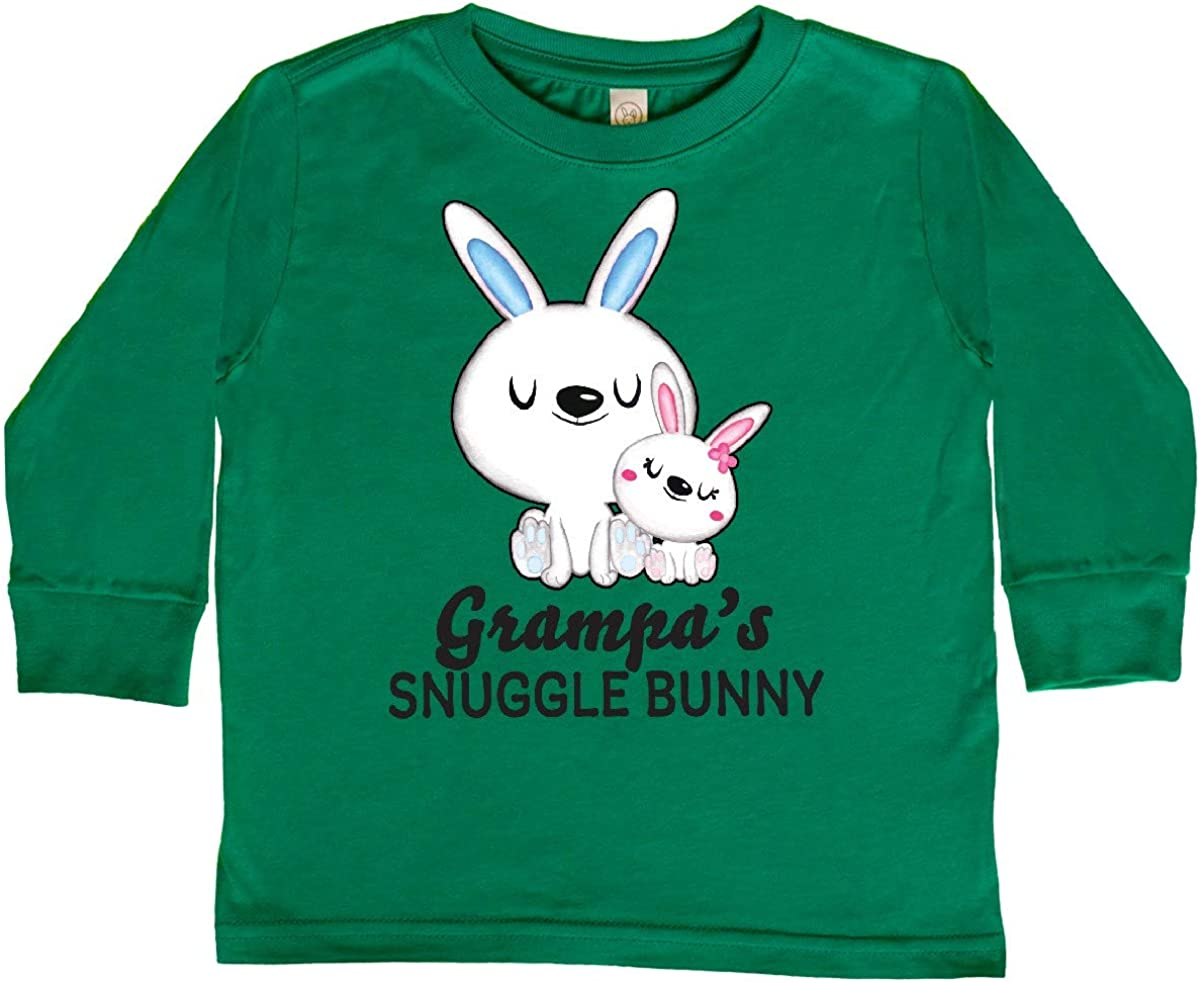 inktastic Grampas Snuggle Bunny Easter Toddler Long Sleeve T-Shirt