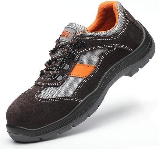 Dxyap Zapato Seguridad Zapatos Trabajo con Punta de Acero ...