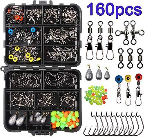 JSHANMEI 160pcs Fishing Accessories