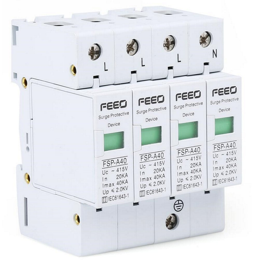 Buy Feeo Ac Double Pole Surge Protection Device Spd 20 Ka To 40 3 Phase Protector Wiring Diagram Four