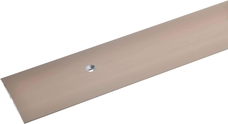 4x50 mm List/ón de transici/ón para moqueta laminado y parquet bronce oscuro acerto 35956 Perfil de transici/ón de aluminio taladrado en el centro 100 cm Robusto Resistente a los ara/ñazos