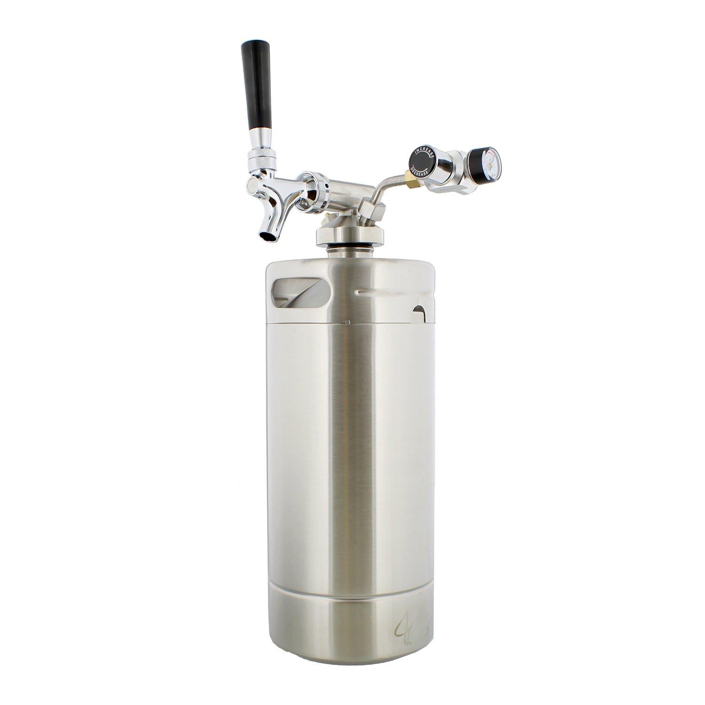 G Francis Keg with Keg Regulator and Beer Dispenser, 128 oz – Portable Keg Draft Beer Dispenser, Portable Beer Dispenser