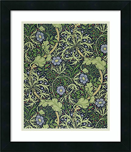 - Framed Wall Art Print | Home Wall Decor Art Prints | Seaweed Wallpaper Design, Printed by John Henry Dearle, 1901 by William Morris | Modern Decor