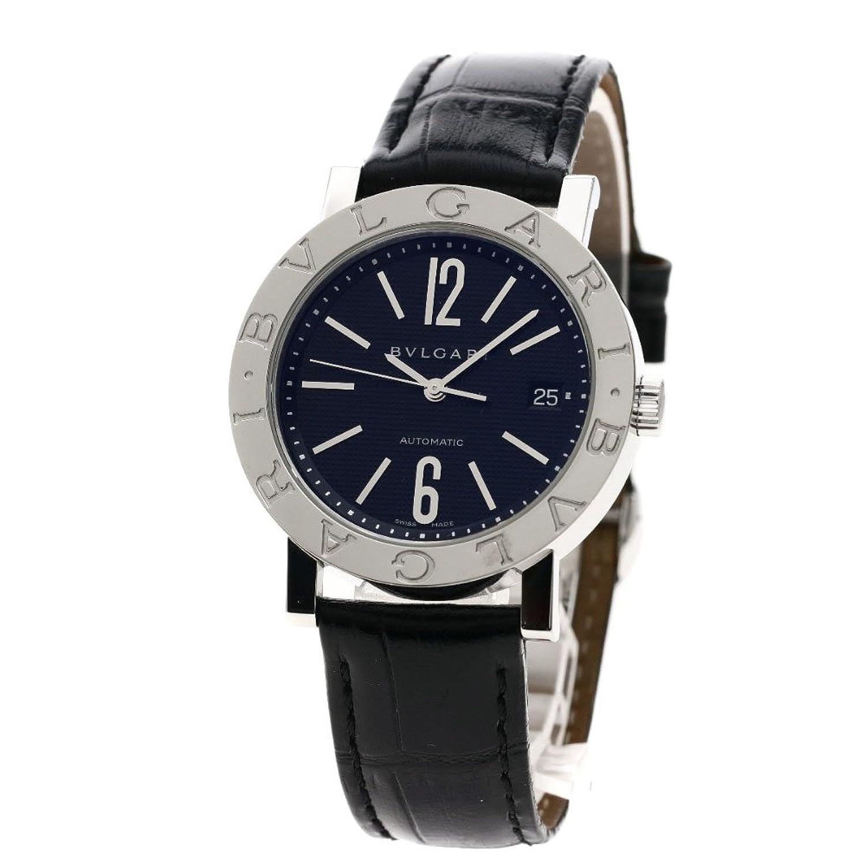 [ブルガリ]ブルガリブルガリ 腕時計 ステンレススチール/革 メンズ (中古) B07D7LZ4ZT