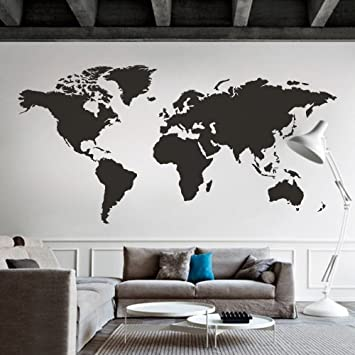 Amazon mairgwall world map wall decal the whole world wall mairgwall world map wall decal the whole world wall vinyl art sticker for home and office gumiabroncs Image collections