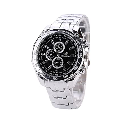 Amazon.com: Goodfeng Reloj de pulsera casual de acero ...