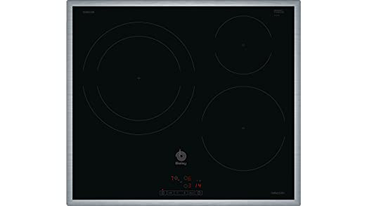 Balay 3EB865XR hobs Negro Integrado Con - Placa (Negro, Integrado, Con placa de inducción, Vidrio, 1400 W, 15 cm)
