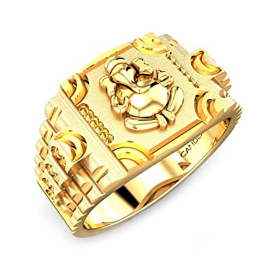 Candere By Kalyan Jewellers Yellow Gold Ring for Men: Amazon