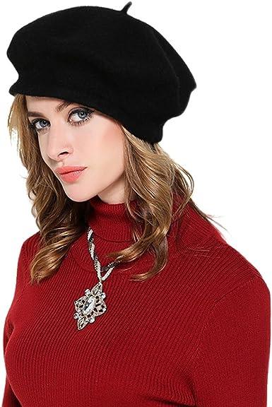 LL 100/% Wool Women Fedora Hat Autumn Winter Lady Beret Cap Female Hat with Flower Wool Warm Woolen Cap