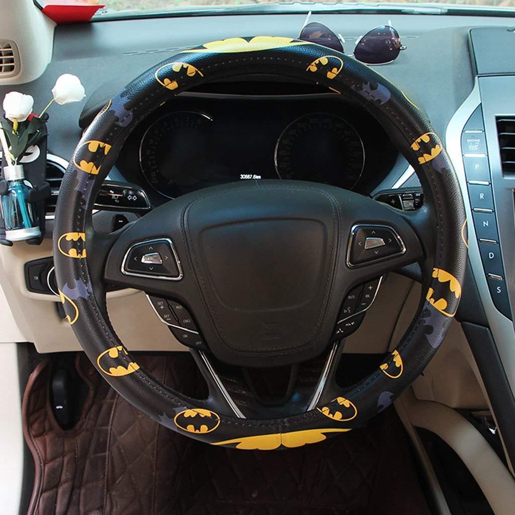 Color : A Marvel New Steering Wheel Set Spider-Man Iron Man Beauty Team Superman Batman Cartoon Car Handle